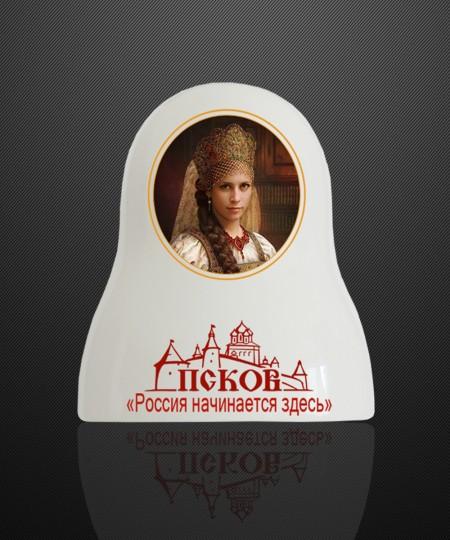 """МАТРЕШКА - ШТОФ """" ПСКОВ"""" 500 ml"""